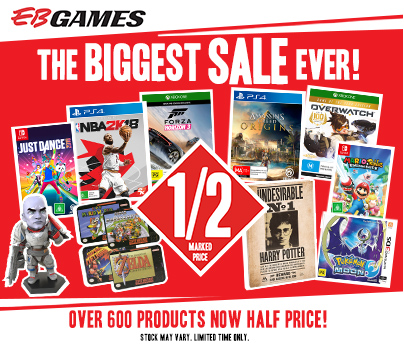 EB Games - Biggest Sale Ever - Shopping Centre Send404 x 346_ Charter hall