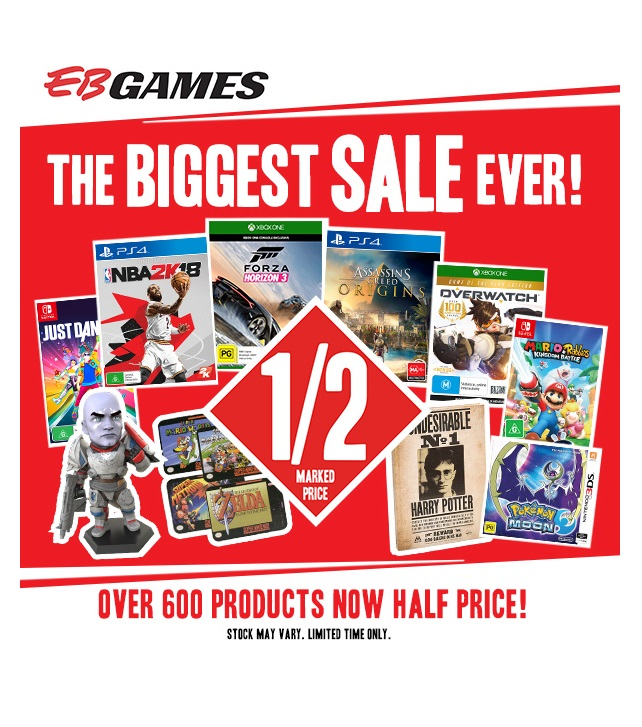EB Games - Biggest Sale Ever - Shopping Centre Send642x727_